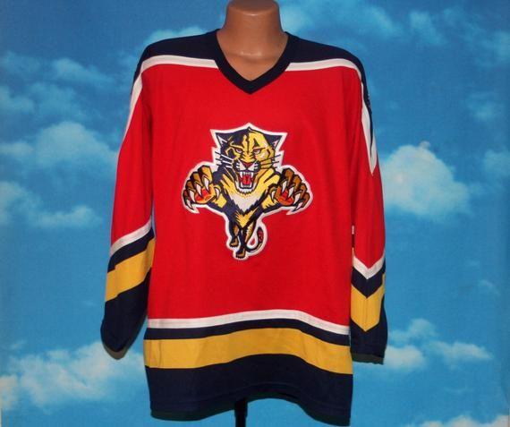Florida Panthers Ccm Hockey Jersey Xl Vintage 1990s By Nodemo Ccm Hockey Florida Panthers Hockey Jersey