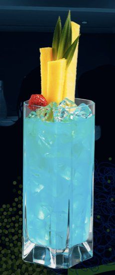 HPNO-Colada * 1 oz. Hpnotiq * ½ oz. Super Premium Raspberry Vodka * 2 oz. Cream of Coconut Liqueur * 2 oz. Pineapple Juice * Splash of grenadine Blend ingredients with ice, serve in a hurricane glass and add a splash of grenadine to color. Garnish with a pineapple slice. 007.