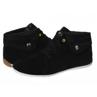 Ghete sport dama Puma Buckminster Chukka MINI black-lime punch