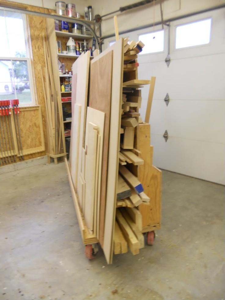 17 best images about workshop wood storage cart on pinterest lumber storage rack wood. Black Bedroom Furniture Sets. Home Design Ideas