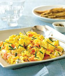 Smoked salmon with scrambled eggs recipe - Style At Home