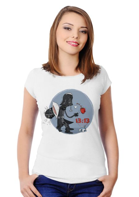Wake up, Darth! Women's Slim Fit T-shirt Design by Konrad Rysuje | Teequilla | Teequilla