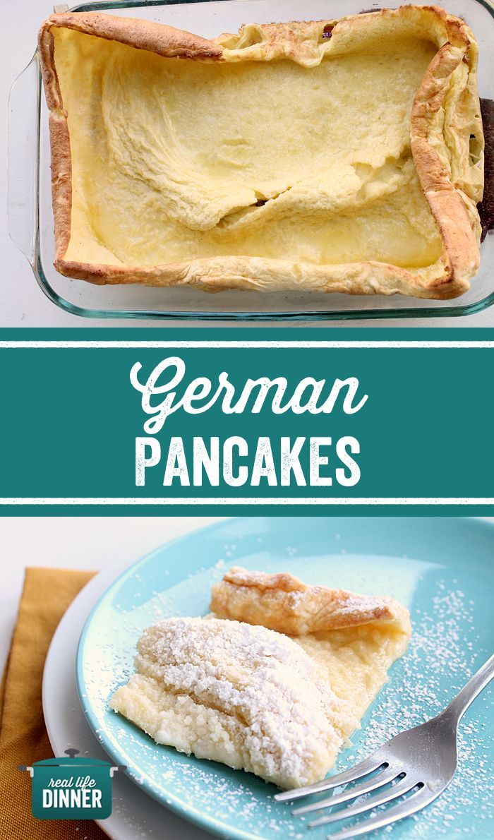 German Pancakes, Dutch Babies, Puff Pancakes....whatever you call them they are one of the fastest easiest pancakes out there. Five ingredients and 20 minutes later, Breakfast or dinner is served! ~ http://reallifedinner.com