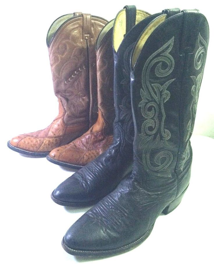 2 Pair Men's COWBOY BOOTS Size 9D Brown & Black 9 D NOCONA Boot +  #Nocona #CowboyWestern