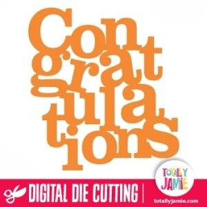 Use this congratulations word art to embellish all sorts of scrapbooking and paper crafting projects. Digital die cutting files are designed specifically with cutting machines in mind. Use them with programs such as your Silhouette, Cricut (SCAL/MTC), Pazzles, Klick-n-Kut, Wishblade or any cutting machine that can use the following file formats: SVG, PDF, and DXF.