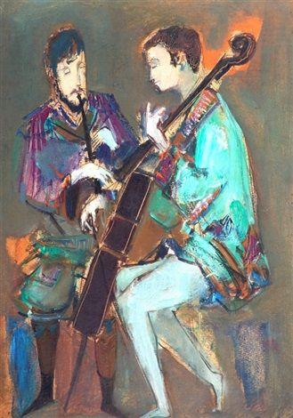 Dos músicos : Raúl Soldi