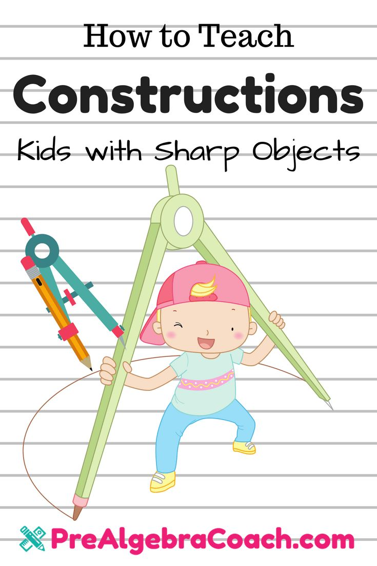 Construction Activity | Geometric Constructions | Pre-Algebra | Compass   How to Teach Constructions - PreAlgebraCoach.com