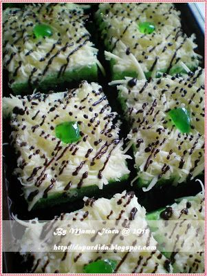 Dapur Itara: Brownies Kukus Pandan Keju