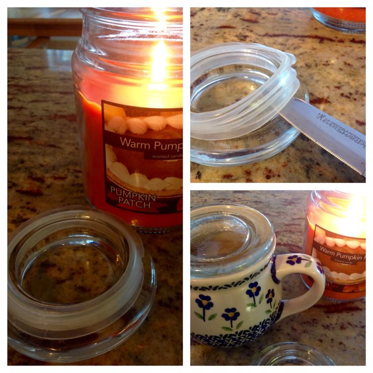 How to reuse the lids from jar candles to keep your coffee