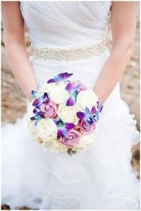 Bridal bouquet with roses and orchids - Roodevallei Fair City Hotel, Roodeplaat area, Pretoria. Floral Design  by www.pinkenergyfloraldesign.co.za