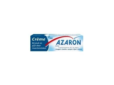 Azaron Azaron creme 10g  Behandeling tegen jeuk en pijn tengevolge van insektensteken (muggen wespen bijen mieren etc.) en aanraking met kwallen. Heeft een plaatselijk verdovende werking bij pijn en jeuk.  EUR 5.21  Meer informatie