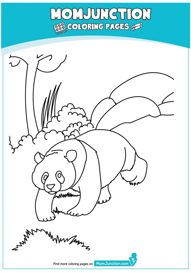 Panda Bear Coloring Page, FREE Coloring Page Template ...