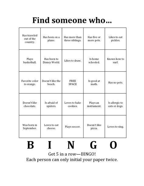 Bingo Icebreaker                                                                                                                                                     More