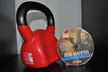 Bob harper kettlebell dvd.  Found this on sale at Target for $14.  The 30-minute workout had me sweating up a storm.  Loved it.