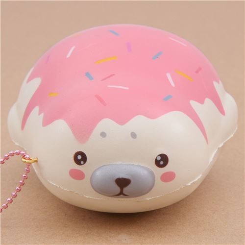 cute cream strawberry sauce mochi seal animal scented squishy by Puni Maru 2