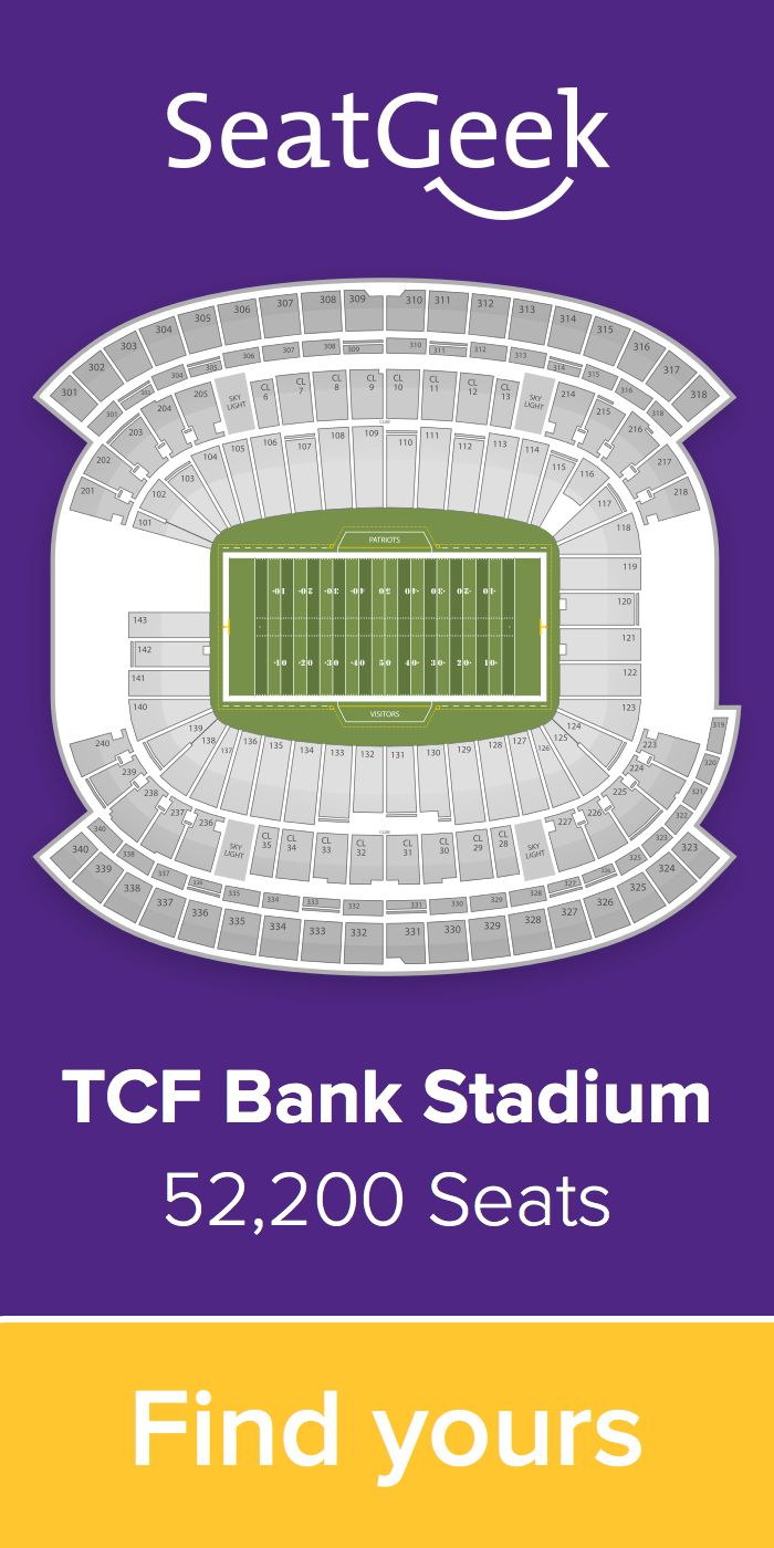 The best deals for Vikings tickets are on SeatGeek!
