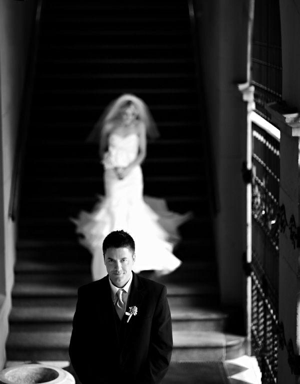 beautifully captured first look wedding moment - phenomenal wedding photography by Denver based wedding photographers Jason + Gina