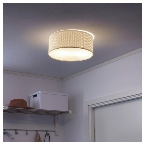 Alang Ceiling Lamp White Ikea In 2020 Ceiling Lamp White Ceiling Lamp Bedroom Ceiling Light