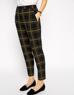 Enlarge ASOS Slim Ankle Grazer Pant In Check                                                                                                                                                                                 More