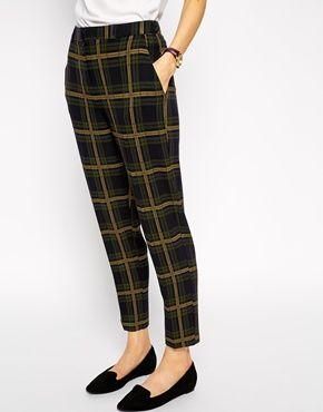 Enlarge ASOS Slim Ankle Grazer Trouser In Check