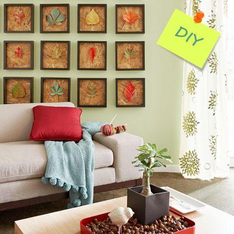 Hacer cuadros decorativos con hojas secas1