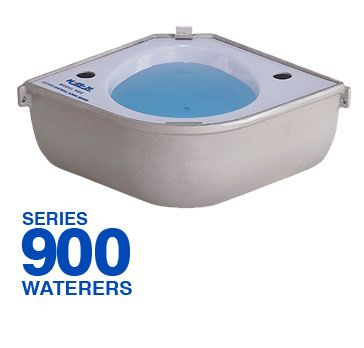 Nelson Mfg 900 Series | Automatic Horse Waterer  - Economical Solution - Impact Resistant ABS Plastic Drinking Bowl - No Rust Cast High Strength Aluminum - Corrosion-Proof Nylon Water Valve  Learn More - https://www.nelsonmfg.com/horse-waterers/900/