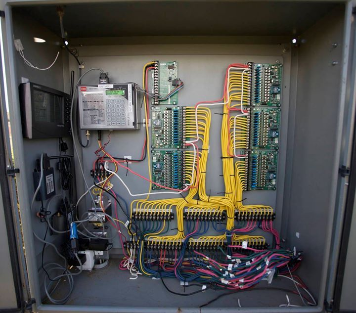 A look inside a control panel. Some of our projects get pretty complex.