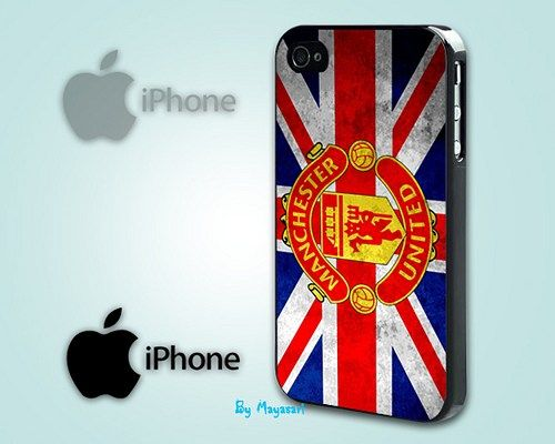 """Manchester United Logo 2 Print on Hard Plastic For iPhone 5 Case, Black Case  This case is available for: iPhone 4/4S iPhone 5/5S iPhone 6 4.7"""" screen Samsung Galaxy S4 Samsung Galaxy S5 iPod 4 iPod 5"""