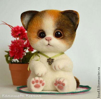 Игрушки животные, ручной работы. Ярмарка Мастеров - ручная работа Котёнок Семён. Handmade.