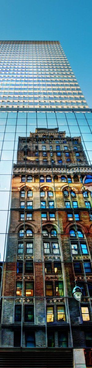 New York City: Natural light bouncing off a mirror makes real the