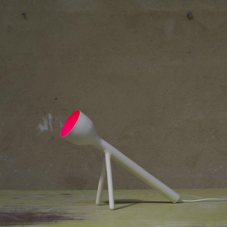 Guillaume Bardet, Saturday, December 12th 2009. Lampe n°10 | With Quentin Marais | Faience and cellulosed paint | Photograph © Pierre Olivier Deschamps for Bernard Chauveau Editeur | #ceramics #design #art #mudac #usagedesjours