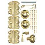 Vinyl Screen Door Kit in Brass Plated, Metallics
