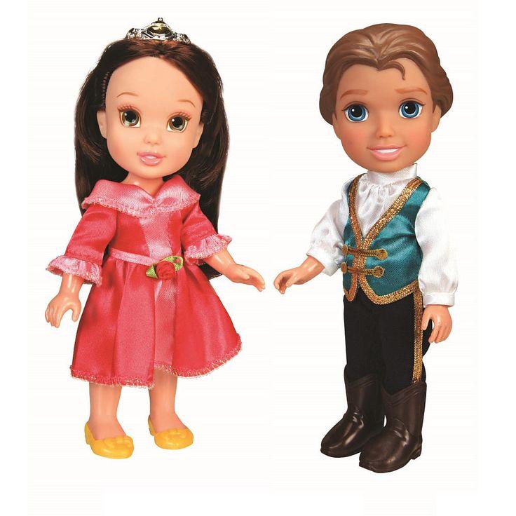 Amazon Com Disney Princess Baby Belle Doll Toys Games: Disney 6 Inch Toddler Prince & Princess Dolls
