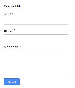 Indiabloggerbuzz  How to add Contact Form Widget for your blog