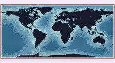 World Map Cross Stitch Pattern