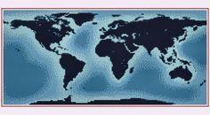 World Map Cross Stitch Pattern