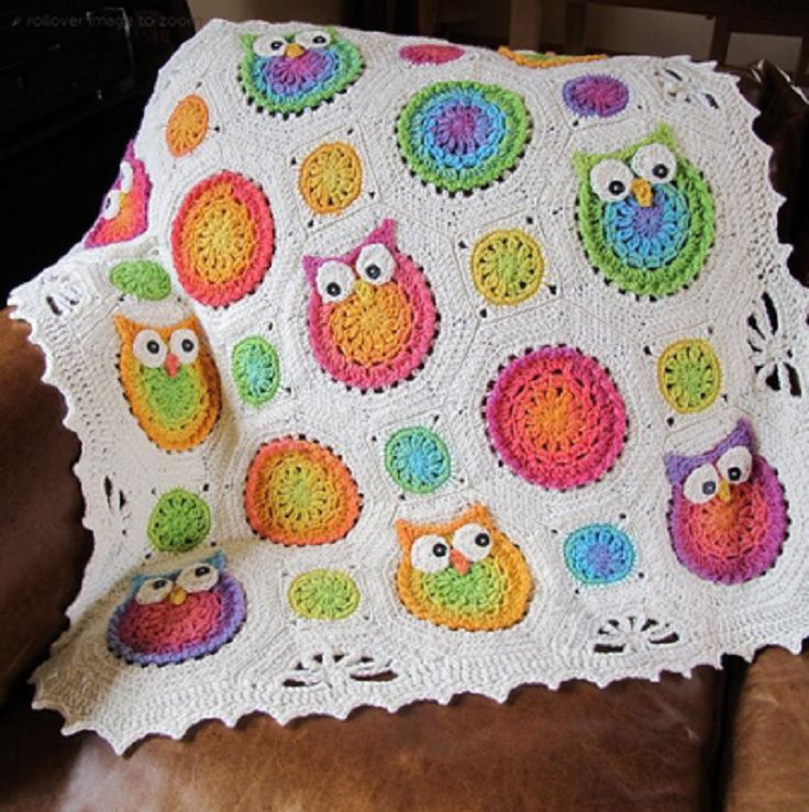 Free+Pattern+for+Owl+Blanket | Top 10 Free Crochet Afghan Baby Blanket Pattern