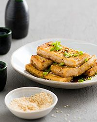 Soy-Sesame Sauce Tofu Recipe | Food | Pinterest | Tofu, Tofu Recipes ...