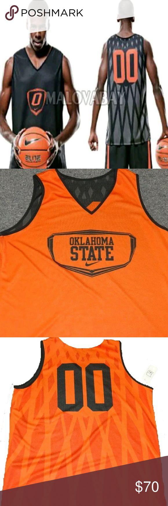 Nike Oklahoma State Cowboys Basketball Reversible Nike Oklahoma State Cowboys Basketball Reversible Men's Large Jersey nike Other