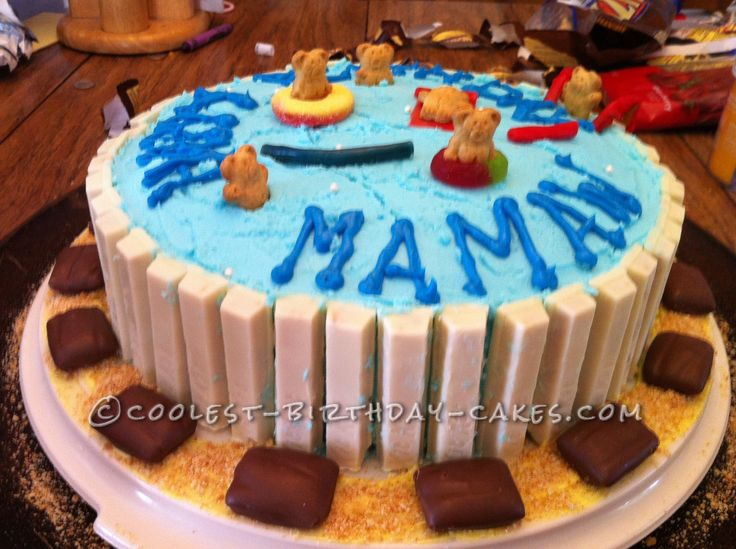 Swimming Pool Cake Ideas swimming pool cake Coolest Swimming Pool Cake For Mamaw Made By Grandkids