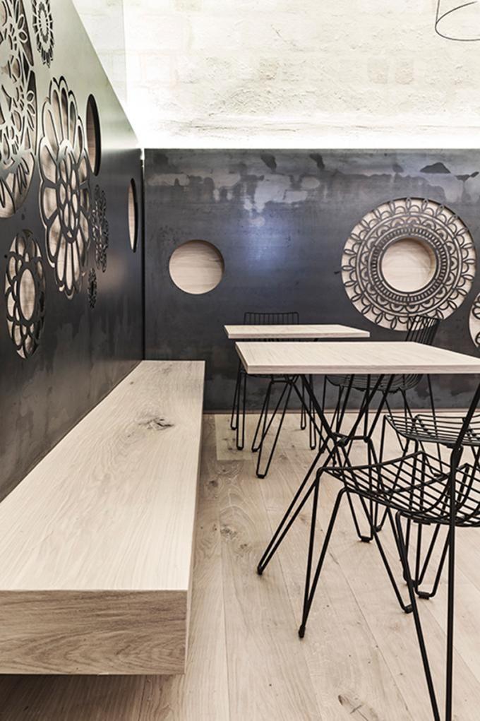 Interior view. Ridola Caffè by Manca Studio. Photography © Pierangelo Laterza.