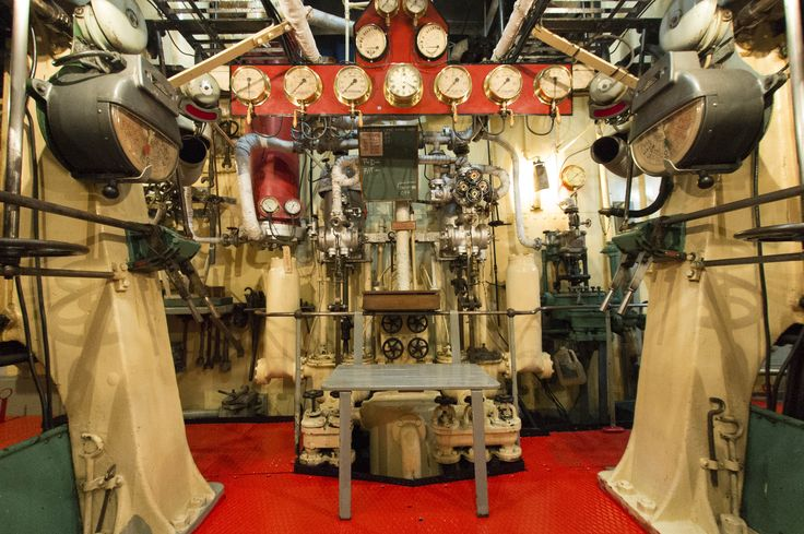 """""""The Wooden Throne"""" - seat of power, right between the engines of the historic tug William C. Daldy where all the instruments and control of the ship's power are located"""