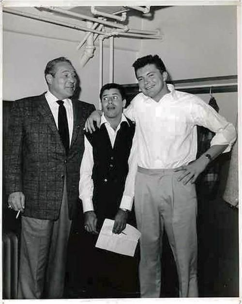Jerry Lewis with boxer Max Baer and his son, actor Max Baer Jr.