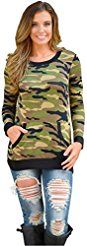 Christmas deals week Pullover TopsMorecome Womens Ladies Camouflage Printing Pocket Sweatshirt Shirts