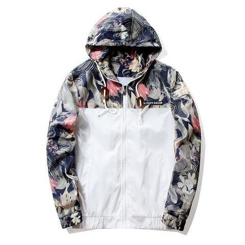 Floral Windbreaker Jacket