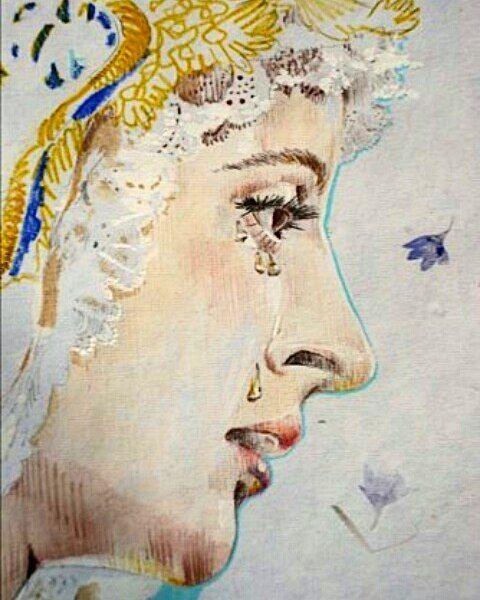Virgen de la Concepción para hermandad del Silencio por Esther Amo  #cuandopinto #estheramo #boletíndelsilencio #virgendelaconcepcion #elsilencio by muiamo
