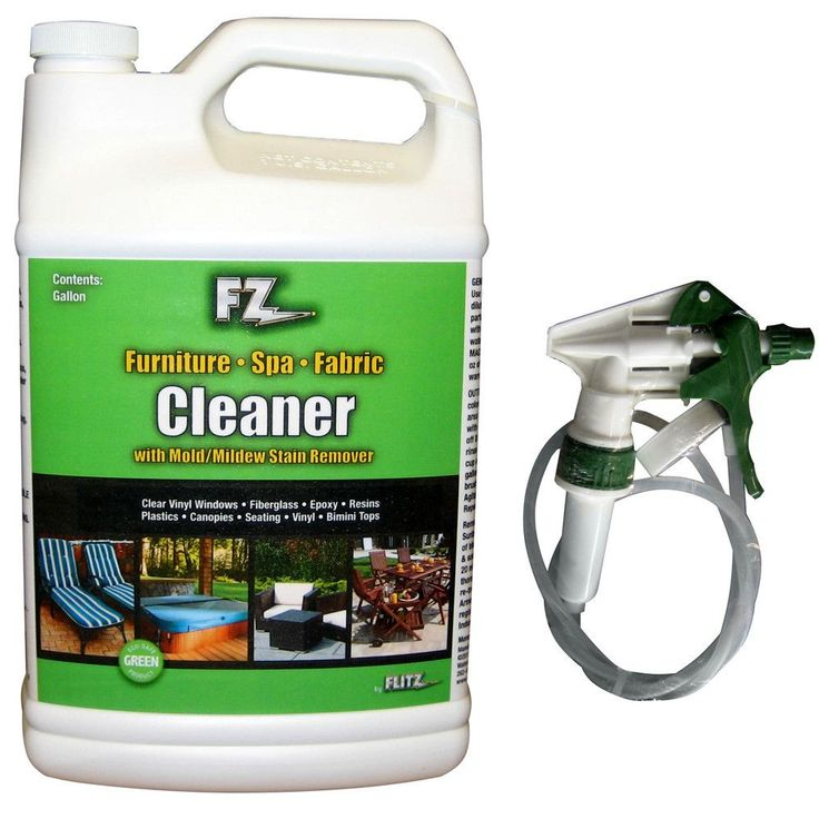 Flitz Outdoor Living Cleaner f/Furniture, Spa & Fabric w/Mold & Mildew Stain Remover - 1 Gallon (128oz) Refill