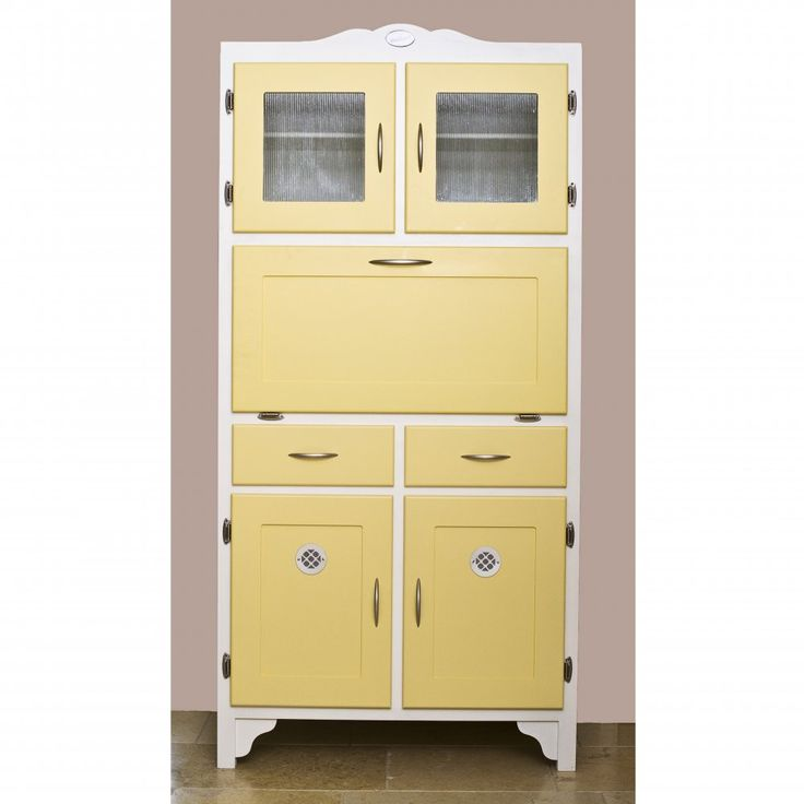 Yellow retro kitchen cupboard kitchen style pinterest for Kitchen cabinets 50 style