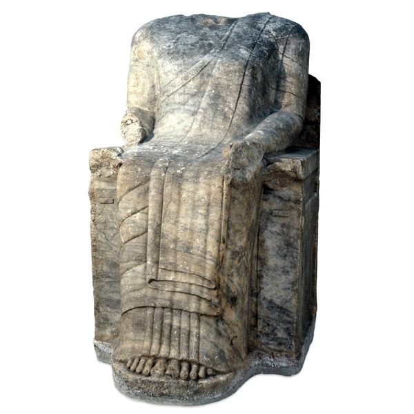 Marble statue of Chares, ruler of Teichioussa  East Greek, around 560 BC Made in an east Greek workshop; found at Didyma, modern Turkey