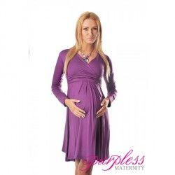 4419 – Těhotenské šaty s dlouhým rukávem